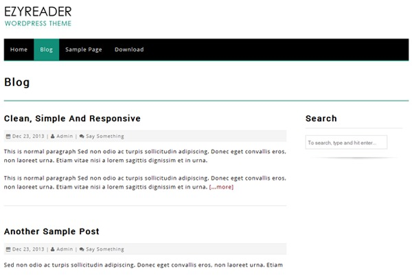 EzyReader business WordPress theme
