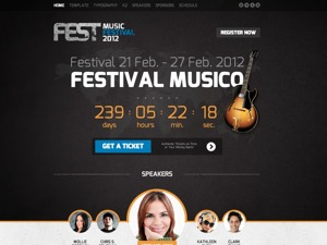 Fest best WordPress template