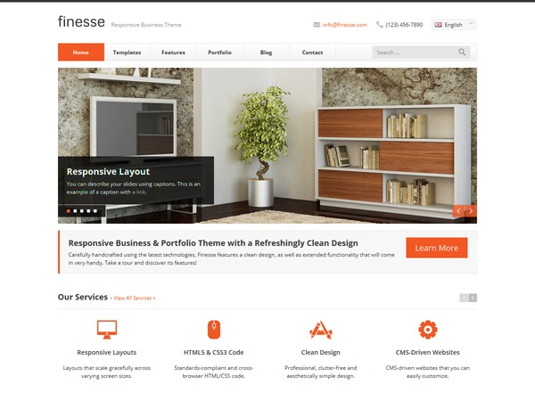 Finesse WordPress template for business