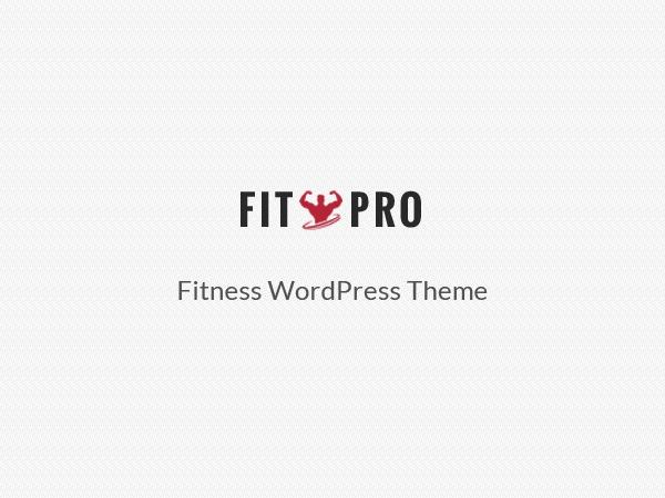 FitPro template WordPress