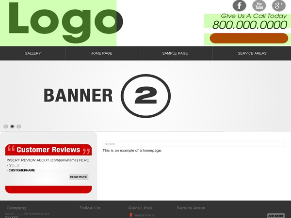 Footbridge template WordPress