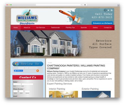 Footbridge theme WordPress - williamspaintingcompany.com
