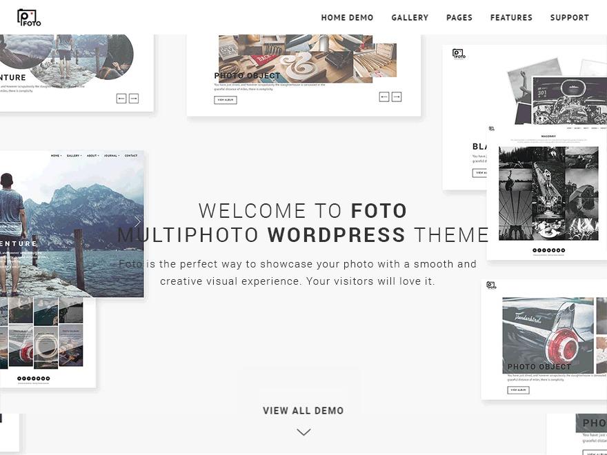 Foto WordPress blog theme