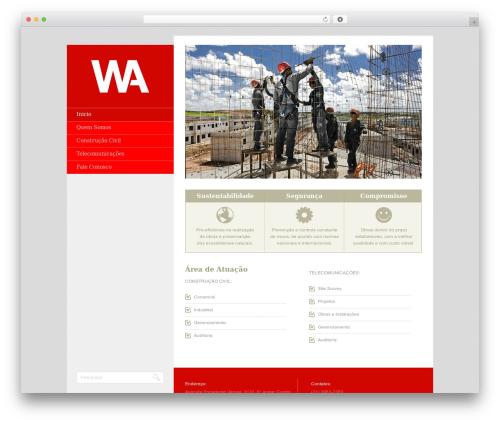 Foundation best WordPress template - waempreendimentos.com.br