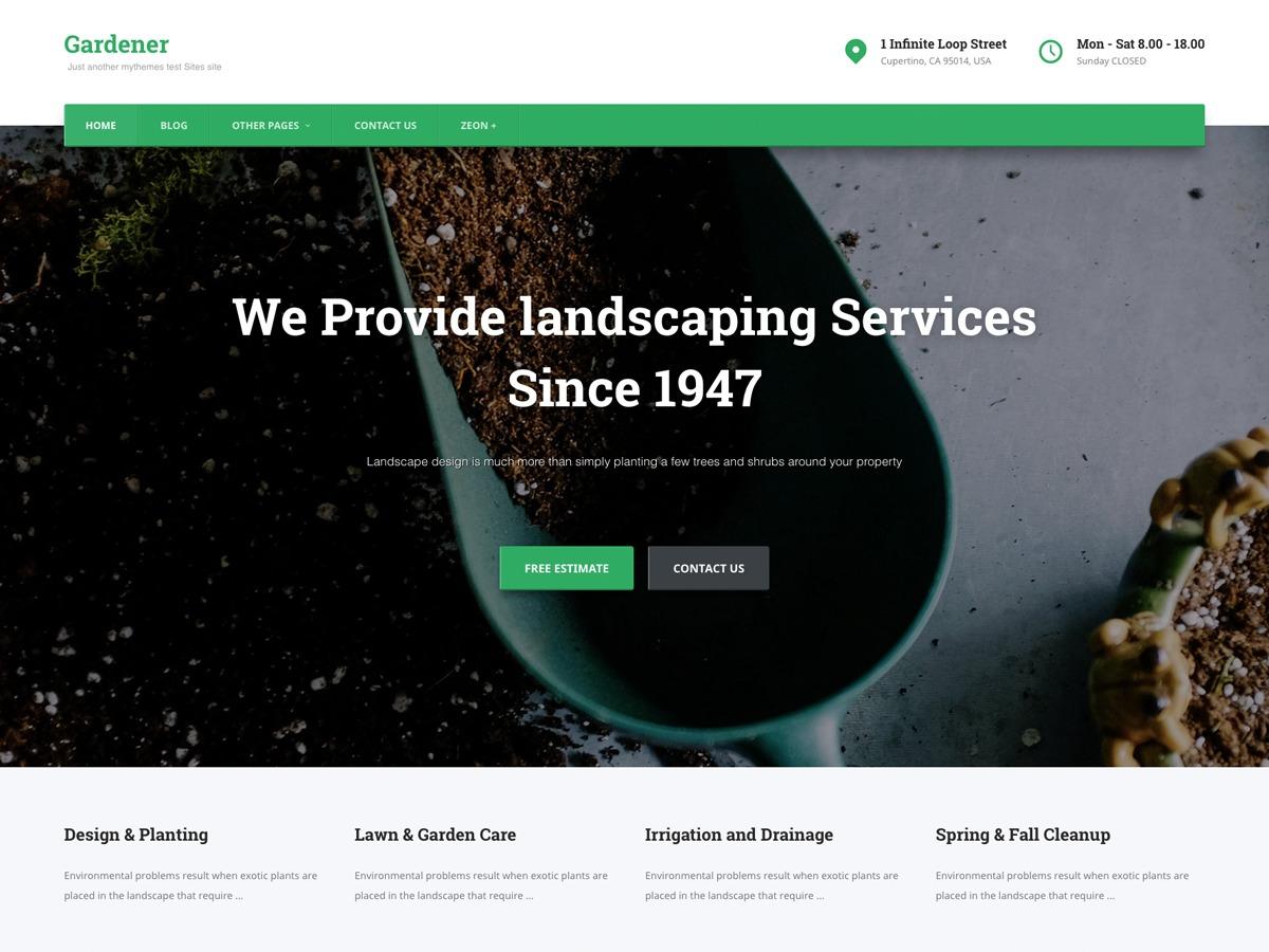 Gardener best restaurant WordPress theme