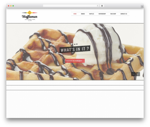 Golden free WordPress theme - waffleman.be