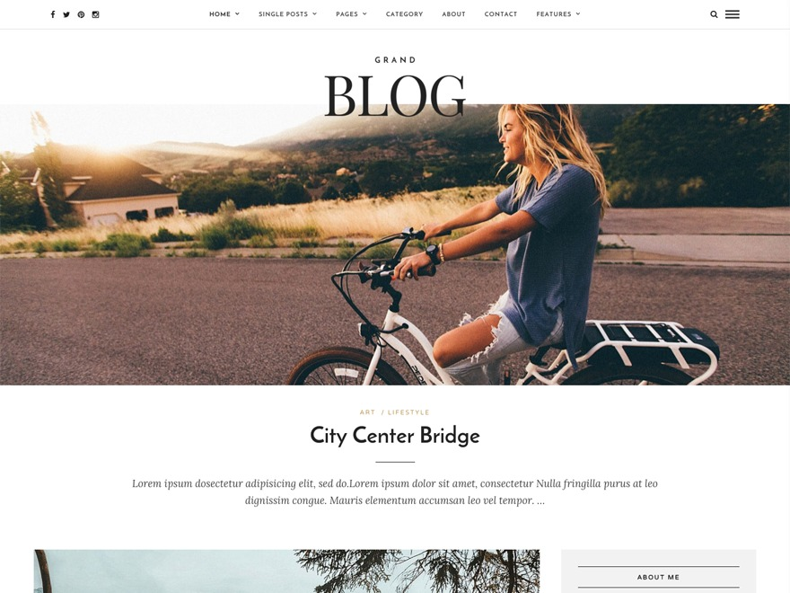 GrandBlog WordPress blog theme
