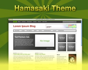 Hamasaki WordPress news template