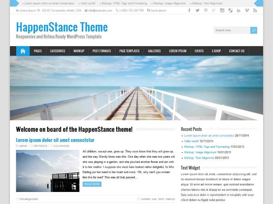 HappenStance Premium best WooCommerce theme