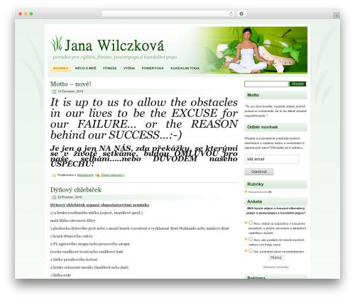 Healthy Lifestyle gym WordPress theme - wellness-guru.cz