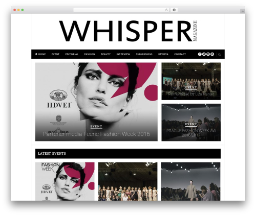 Hickory WordPress magazine theme - whispermagazine.com