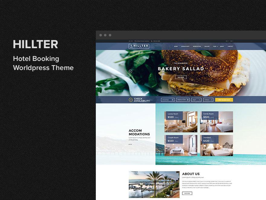 Hillter WordPress portfolio theme