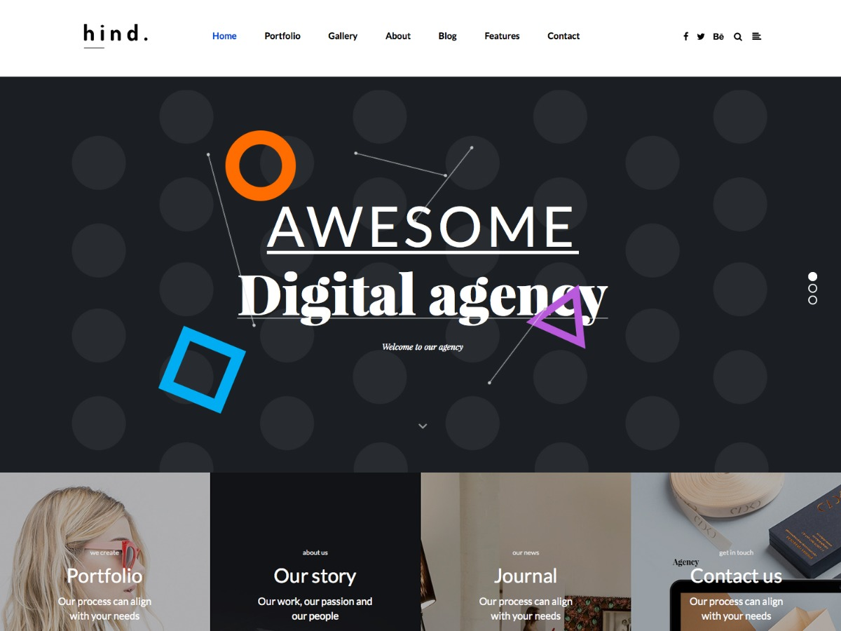 Hind personal blog WordPress theme by Hind Themes