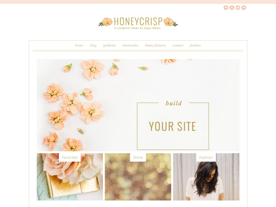 Honeycrisp WordPress theme