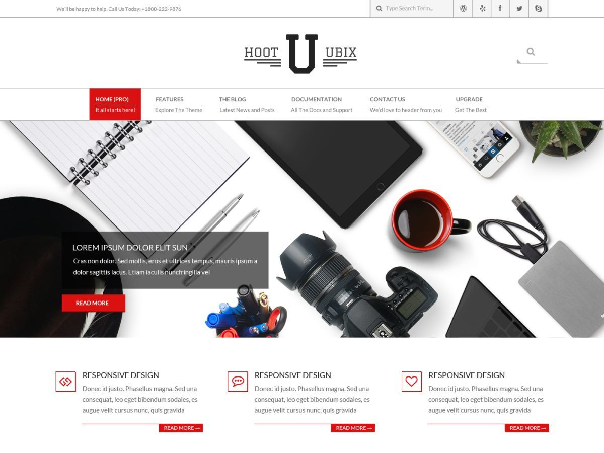 Hoot Ubix theme WordPress free