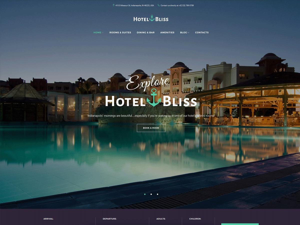 HotelBliss best hotel WordPress theme