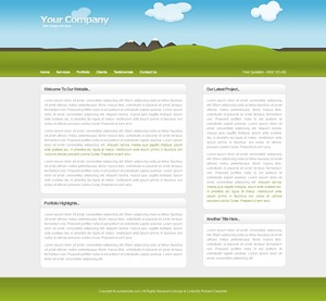 illustrative WordPress page template