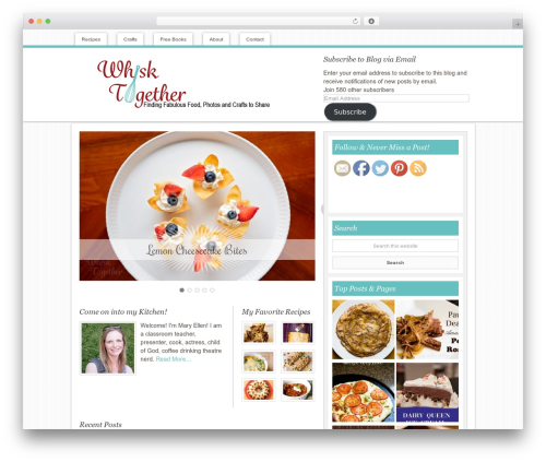 Innovative Child Theme food WordPress theme - whisktogether.com