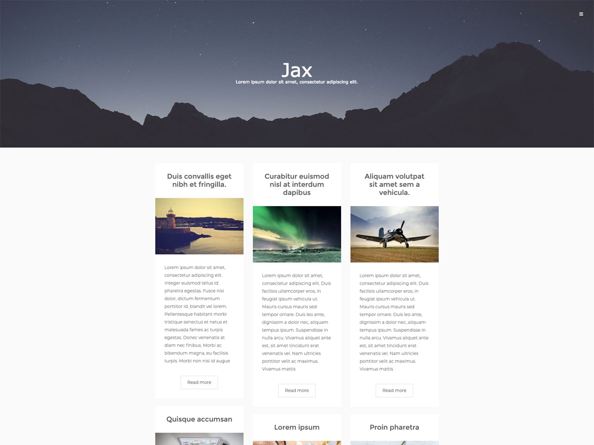 Jax Lite WordPress blog template