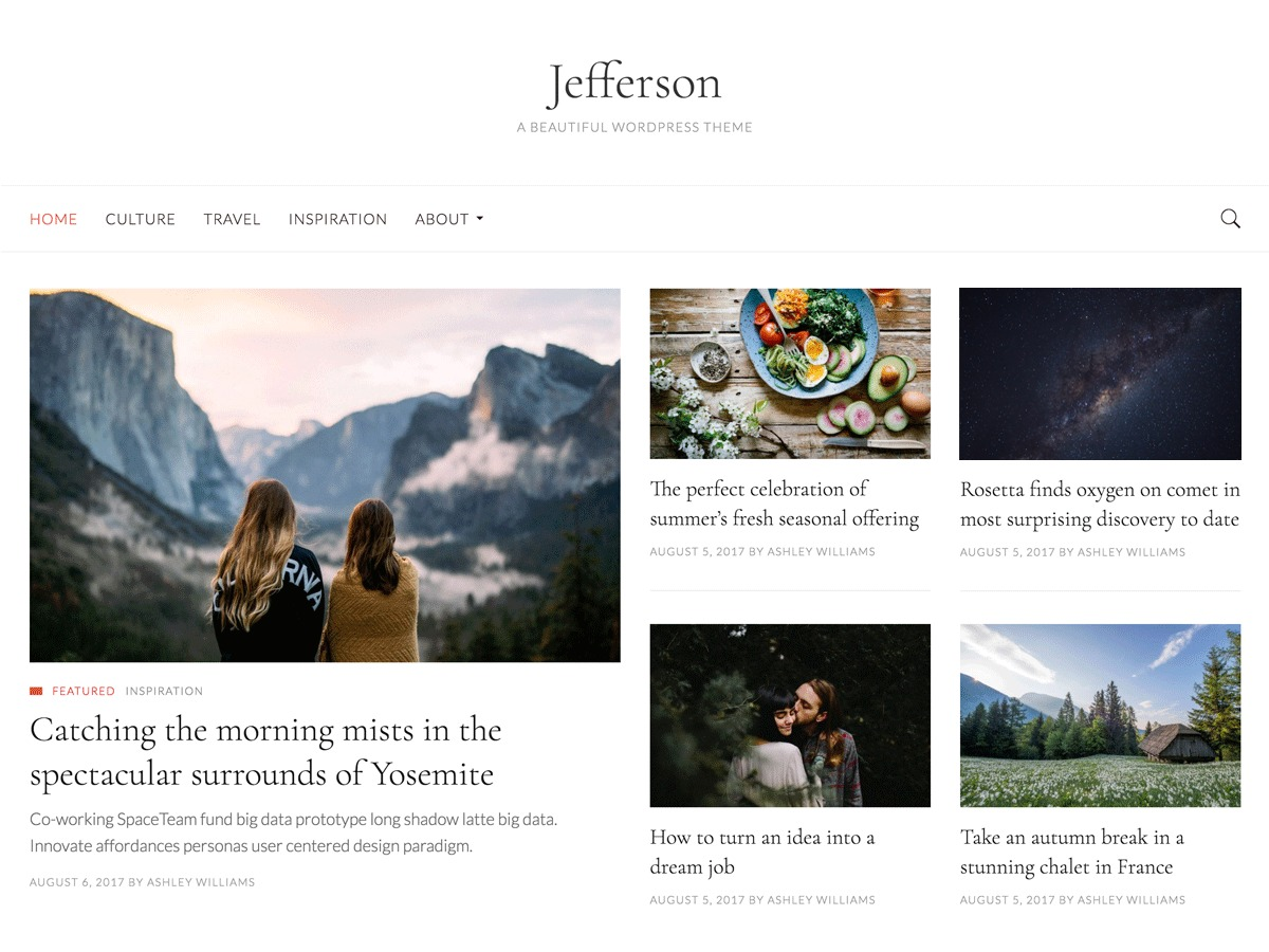 Jefferson free WordPress theme