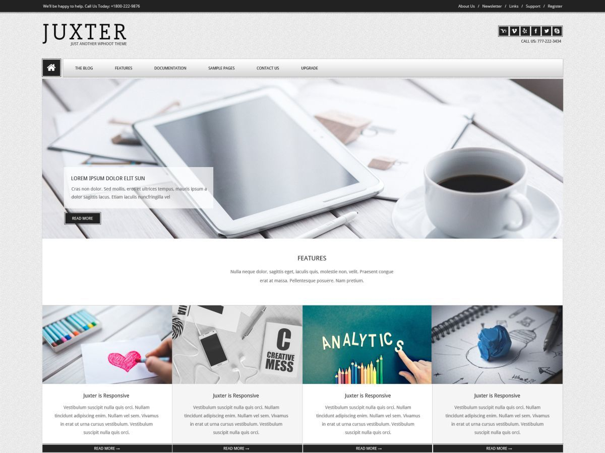 Juxter company WordPress theme