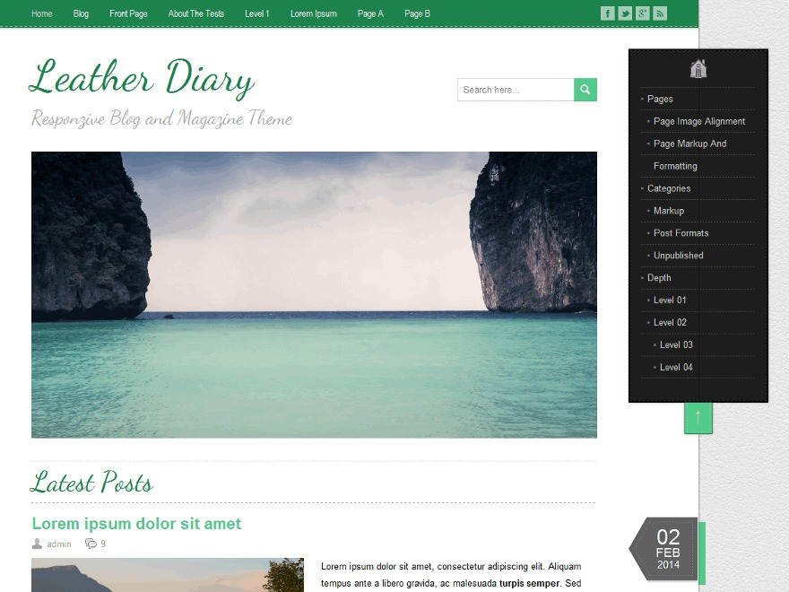 LeatherDiary WordPress ecommerce template