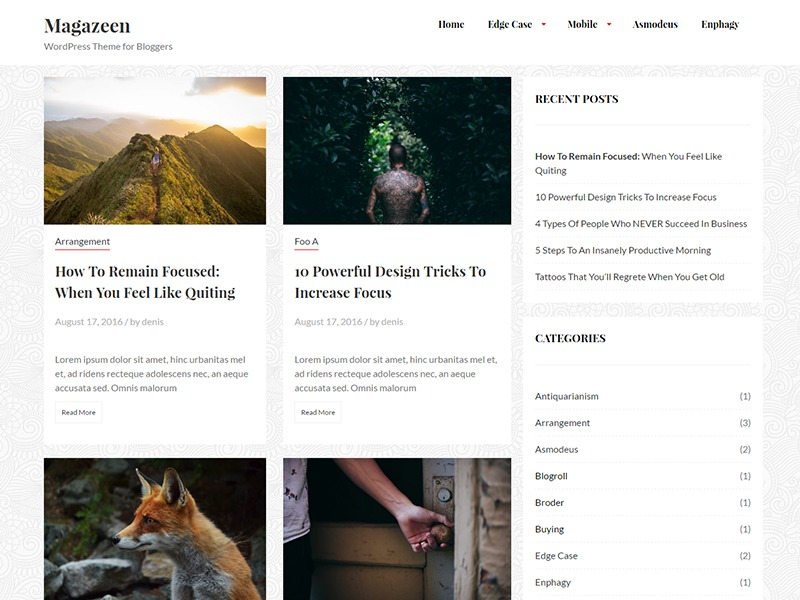 magazeen lite WordPress theme free download
