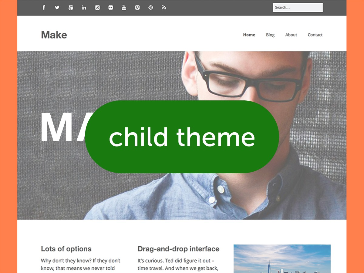 Make (child theme) WordPress template for business