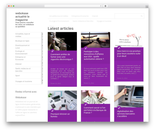 MaterialX WordPress news template - webokase.fr
