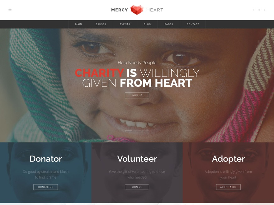 Mercy Heart WordPress theme
