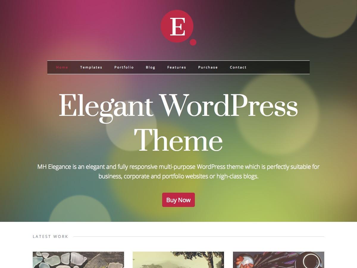MH Elegance WordPress portfolio theme