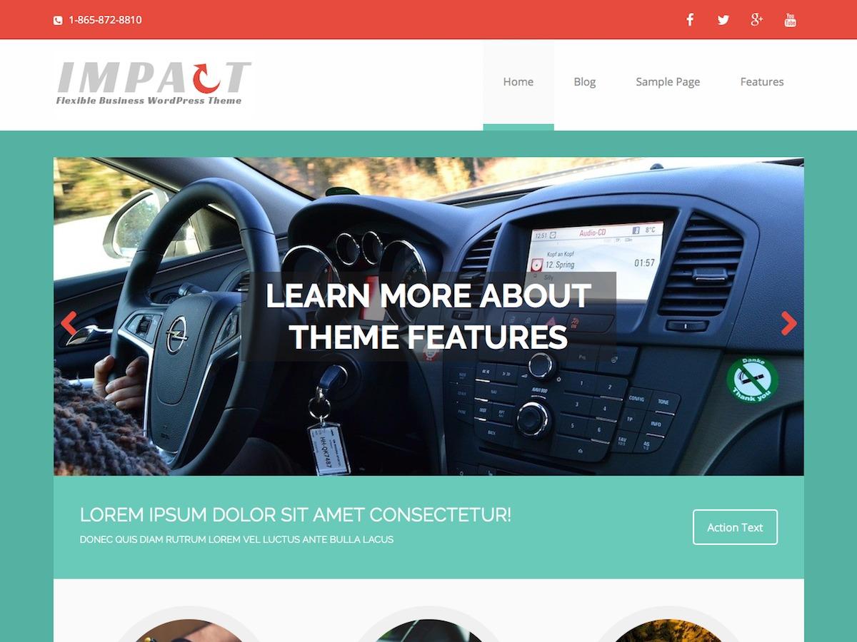MH Impact company WordPress theme