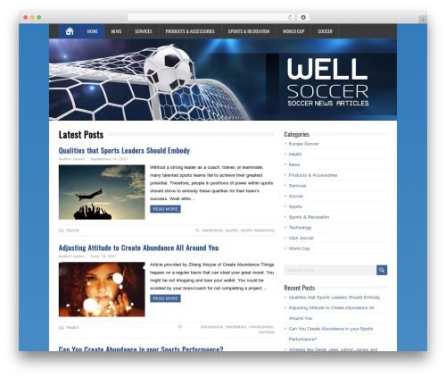 MineZine WordPress template free download - wellsoccer.com
