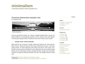 minimalism WordPress website template