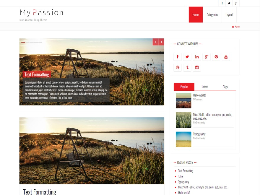 My Passion template WordPress
