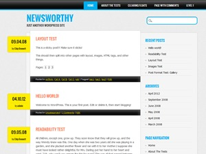 Newsworthy WordPress magazine theme