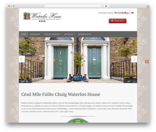 Nirvana best free WordPress theme - waterloohouse.ie