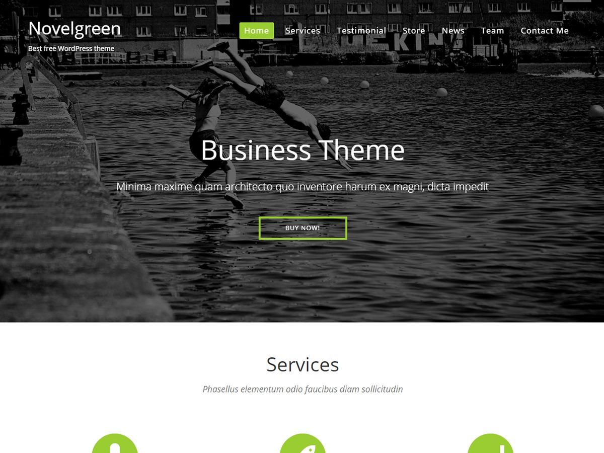 NovelGreen wallpapers WordPress theme