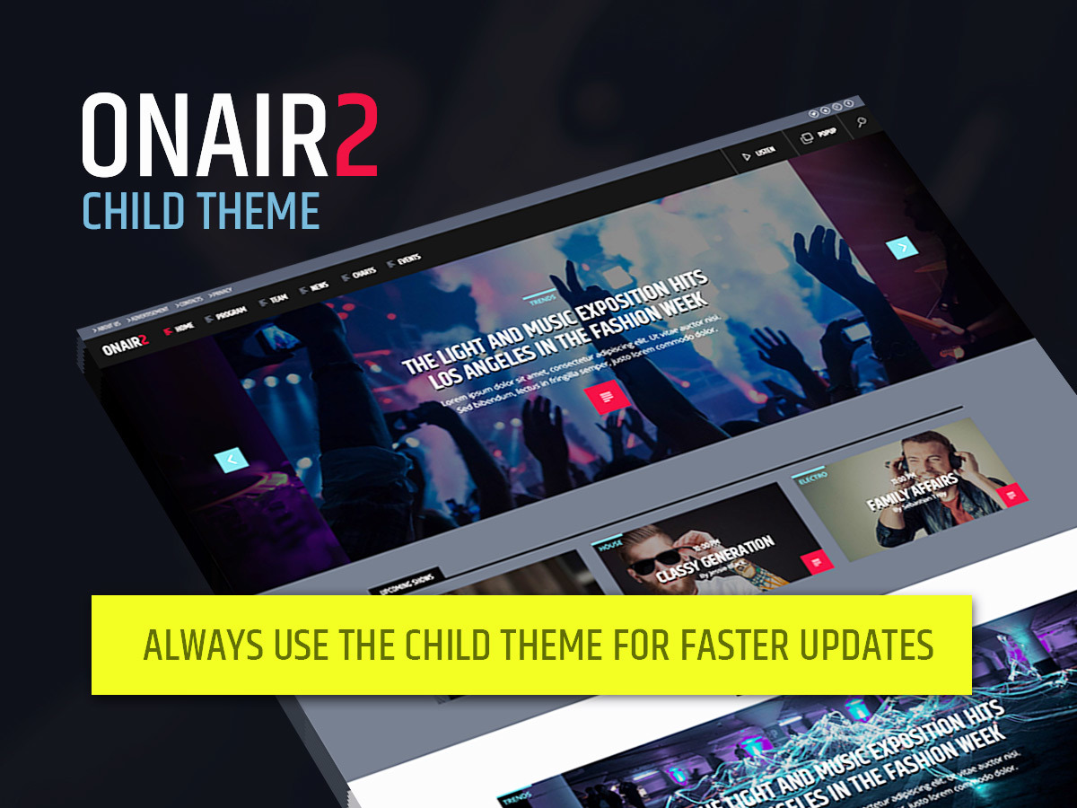 OnAir2 Child WordPress theme