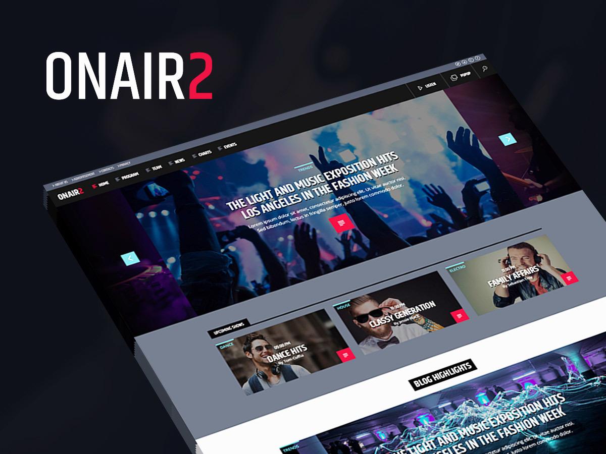 OnAir2 WordPress theme design