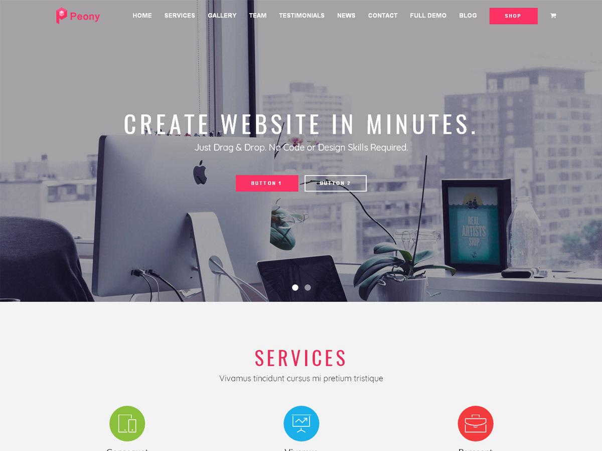 Peony template WordPress free