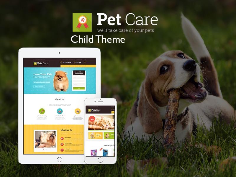 Pets Child WordPress template