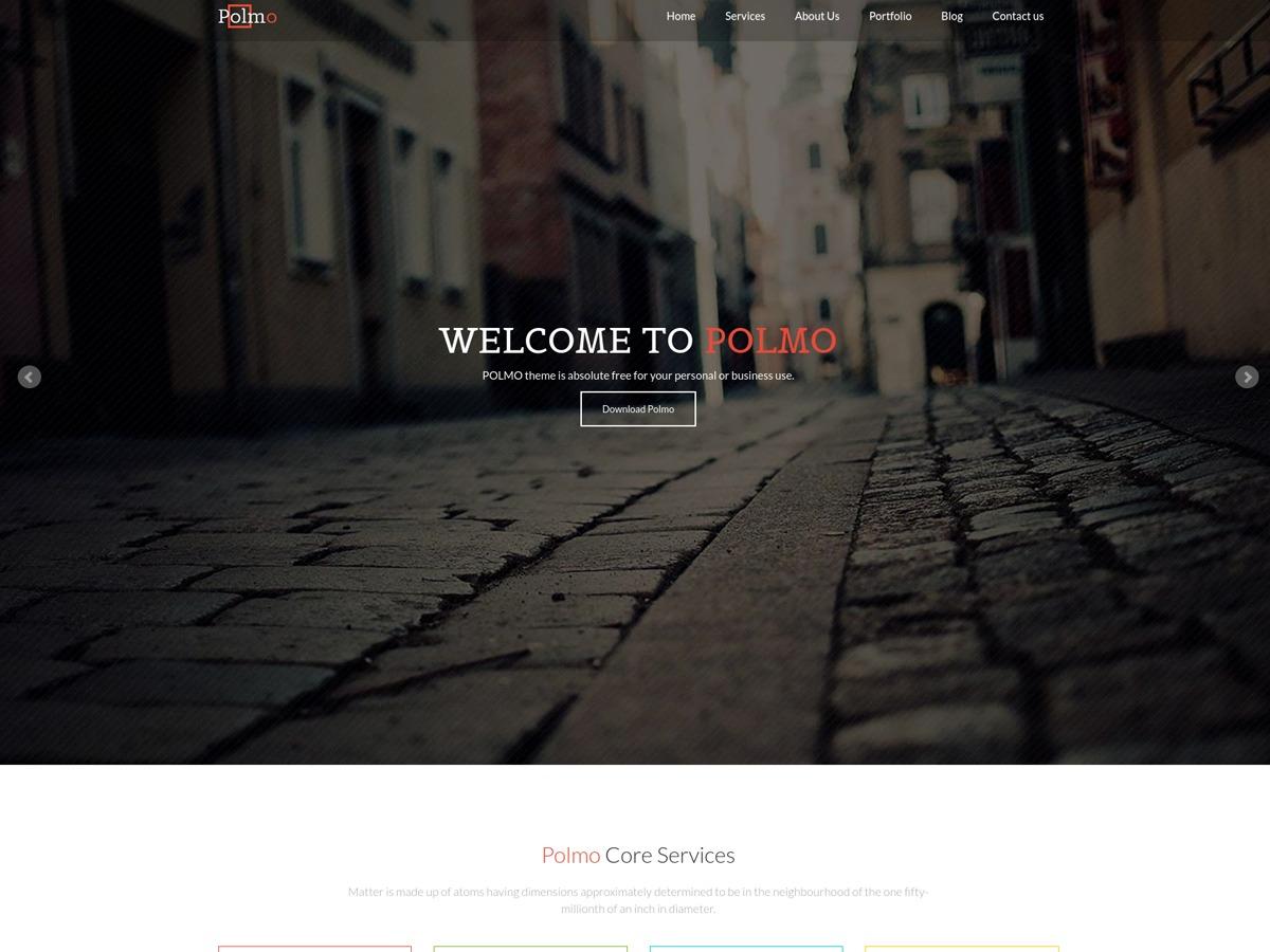 Polmo Lite best free WordPress theme