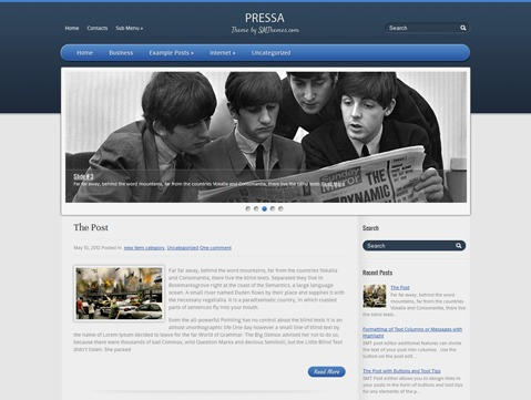 Pressa WordPress website template