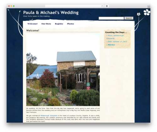 Pretty Parchment WordPress theme - willard-spiegel.com