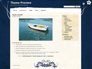 Pretty Parchment WordPress theme design