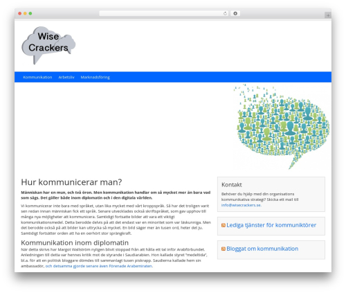 PrivateBusiness best free WordPress theme - wisecrackers.se