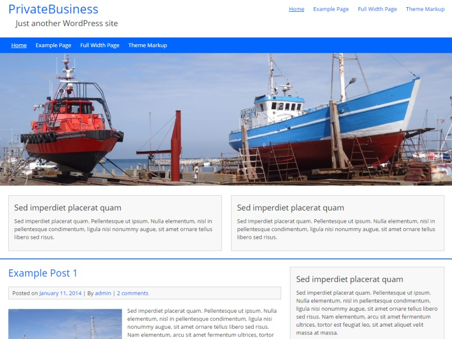 PrivateBusiness free WP theme