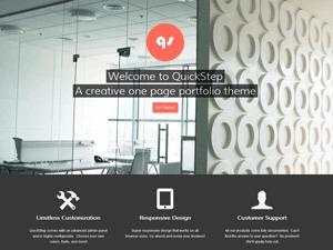 QuickStep personal blog WordPress theme