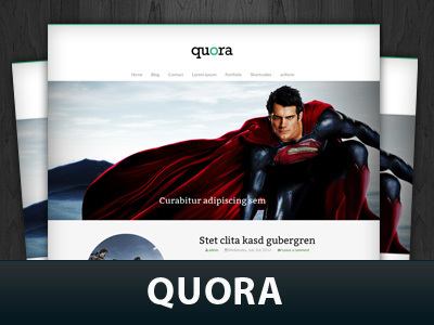 Quora WordPress theme design